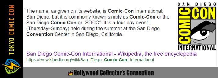 Comic Con, Tokyo Comic Con and HollyCon